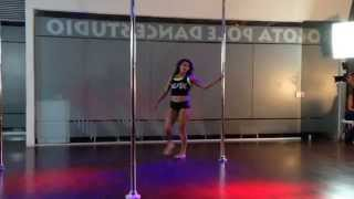 Back to Black- AC DC.  Pole Dance
