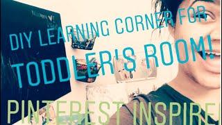 CHEAP DIY LEARNING CORNER FOR TODDLERS ROOM| PINTEREST SENSORY INSPIRED