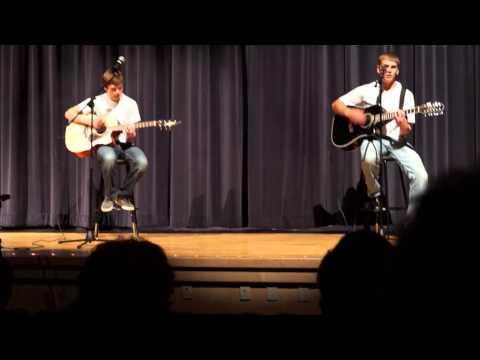"""Nick and Logan playing """"Dozen Roses"""""""