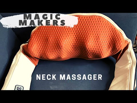 Magic Makers Neck Massager, Relieves Muscle Tension And Increases Blood Flow