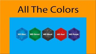 WD Drive Colors