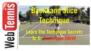 Tennis Backhand Slice Technique - The Need To Stay Sideways