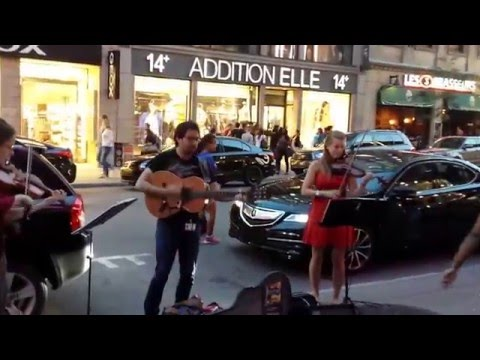The coolest music ever at Saint-Catherine street Montréal !!