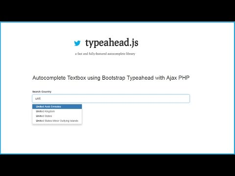 Dynamic Autocomplete search using Bootstrap Typeahead with PHP Ajax