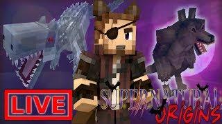 DRAGONS & BLOOD! Minecraft Supernatural Origins #30.5 (Live Modded Survival)