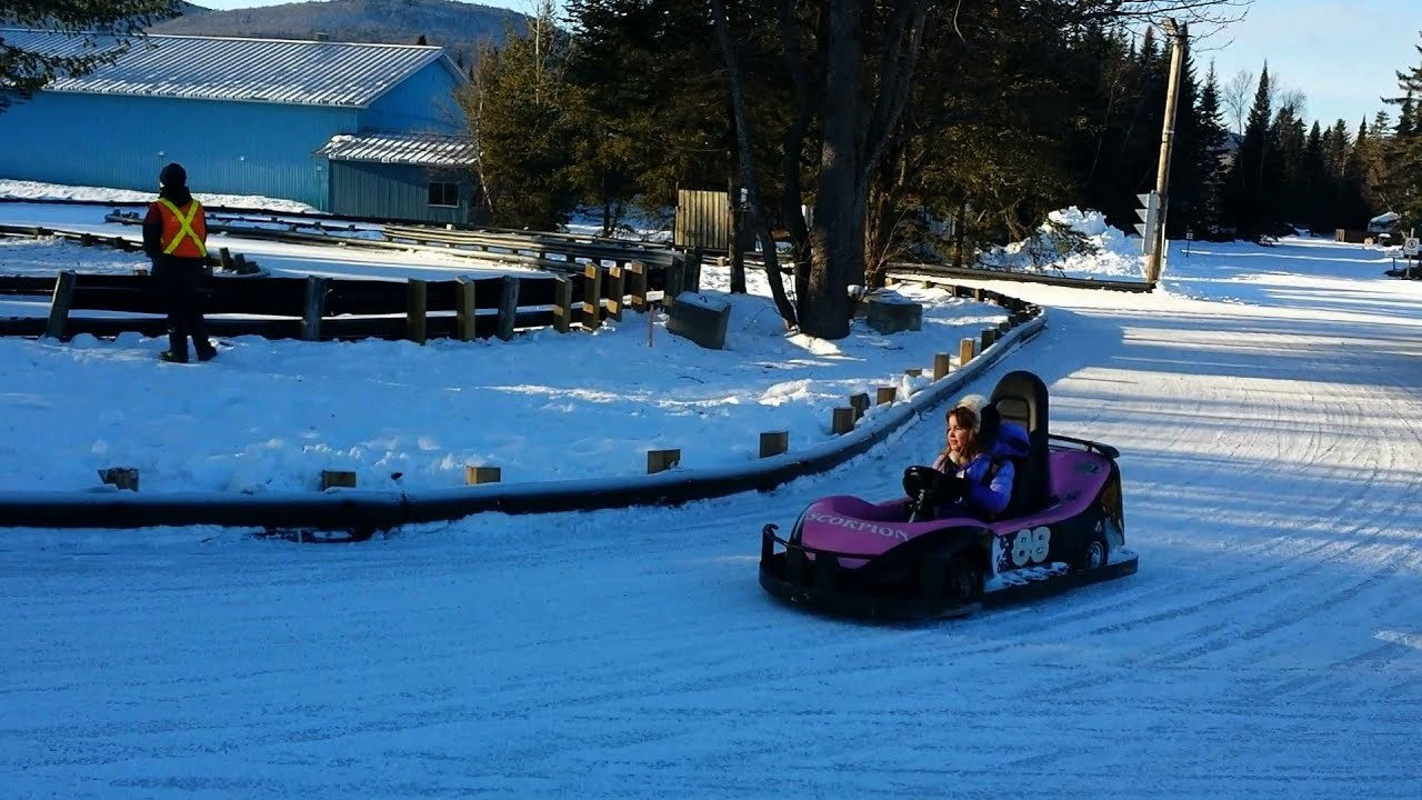 ice karting at vil valcartier in quebec city youtube