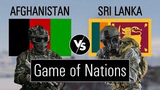Sri lanka vs Afghanistan military power comparison (military comparison)