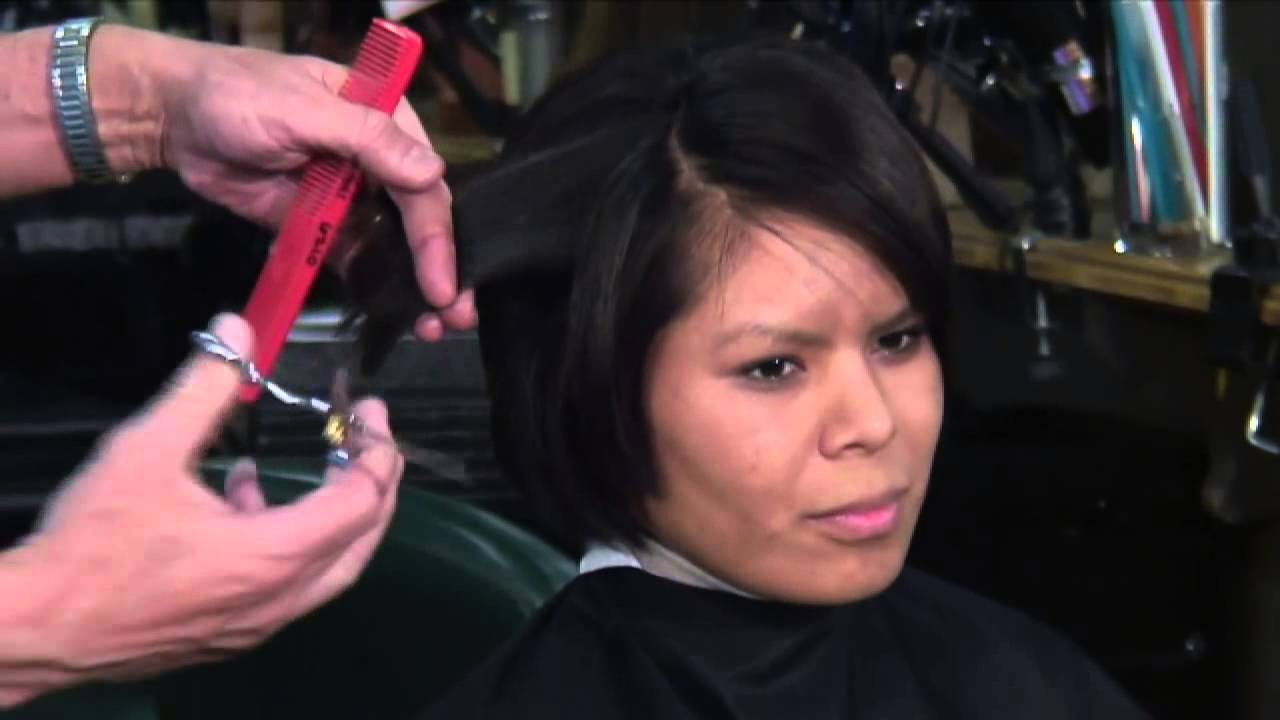 how to cut hair using thinning shears