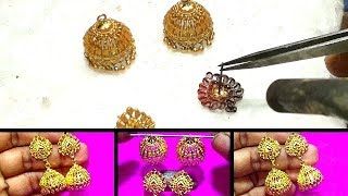 How is Made Gold Jhumka Designs for    Women || Earring for Girls/Women