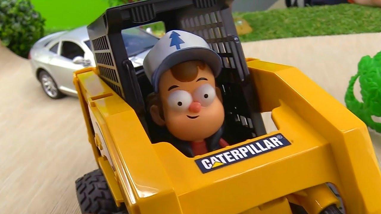 Гравити Фолз - Диппер ремонтирует дорогу - Видео с игрушками.