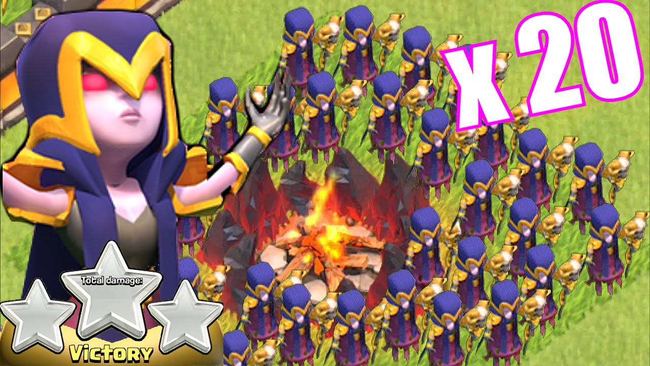 clash of clans lvl 3 all witch attack over powered or