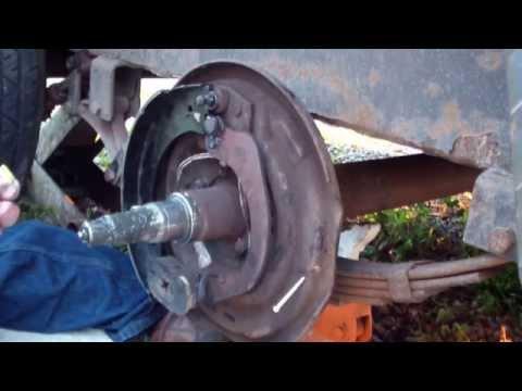 Replace trailer drum brakes