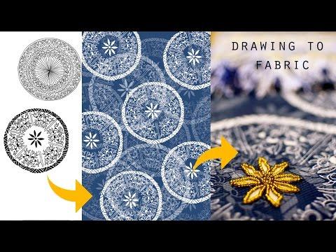 How to make a drawing into digital print & FASHION PRINT IDEAS!