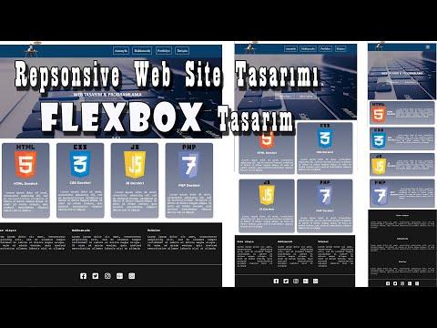 CSS ile Mobil Uyumlu Responsive Web Sitesi Yapımı (Flexbox Tasarım)