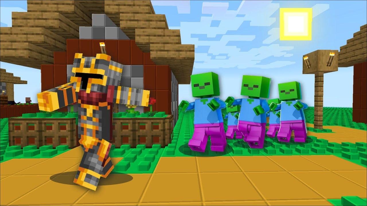 Minecraft LEGO WORLD ZOMBIE APOCALYPSE SURVIVAL MOD / SURVIVE THE LEGO  MINECRAFT !! Minecraft Mods