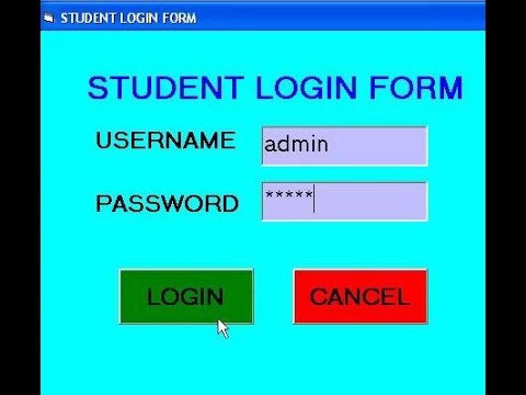 Student Login Form  Using Visual Basic 6.0 -Quick and easy
