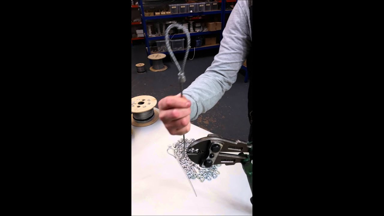 Steel Wire Rope Green Crimping Swage Tool - YouTube