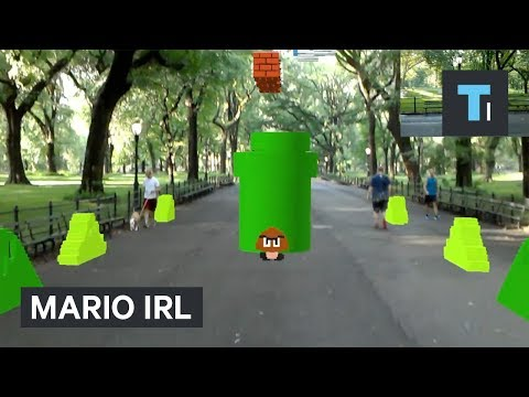 Thumbnail: Watch this guy play Mario​ IRL using augmented reality