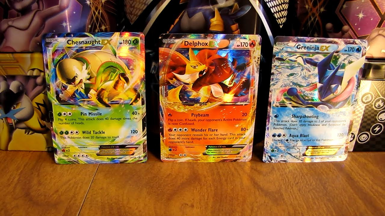 Chesnaught, Delphox, Greninja EX Pokemon Cards (BCBM ...