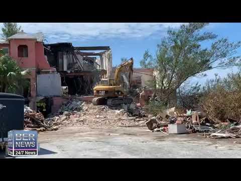 Demolition Underway At Clayhouse Inn, Sept 28 2020