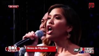 Manny Pacquaio v Jeff Horn Philippine National Anthem Christine Allado Battle of Brisbane