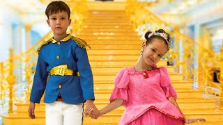 Katy vestir-se para o baile da princesa