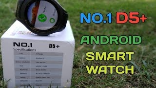 No.1 D5+ Smartwatch - Android 5.1,WiFi,3G,1GB Ram,8gb Rom,MTK6580,Waterproof,Under $125