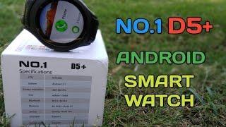 No.1 D5+ Smartwatch - Android 5.1,WiFi,3G,1GB Ram,8gb Rom,MTK6580,Waterproof,Under $125