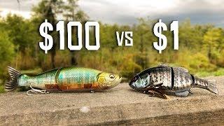 CHEAP vs EXPENSIVE Swimbait Fishing CHALLENGE!!! (HUGE BASS)