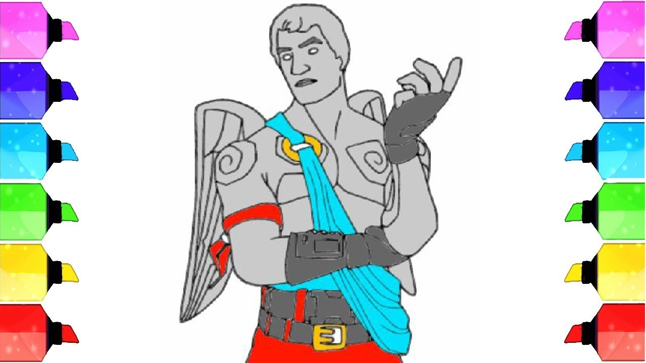 Fortnite Cupid Coloring Page