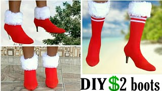 DIY Christmas Yeezy Boot for less than $2.