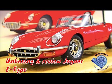 Unboxing review of the Jaguar E-type model 1/18