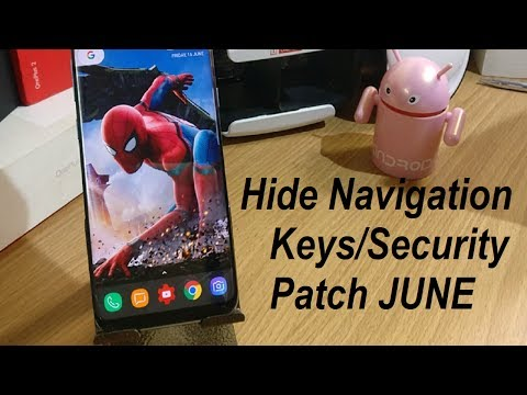 Samsung S8/S8Plus Update amazing Feature Full screen Hide Navigation Bar/June security patch