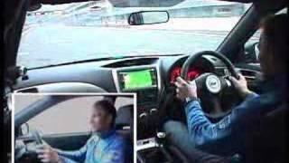 Petter Solberg driving the new Impreza STI