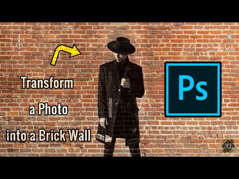 Transform A Photo Into A Brick Wall Using Photophop | Photoshop Tutorial thumbnail