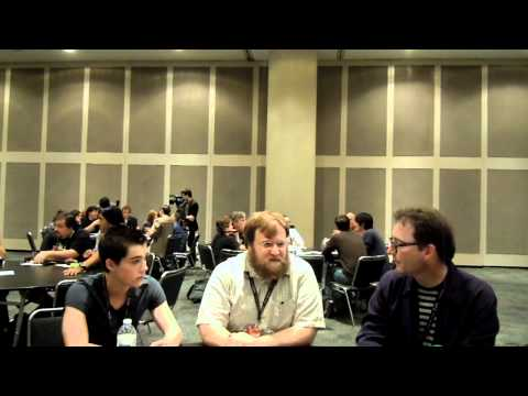 Pendelton Ward, Tom Kenny and Jeremy Shada of Adventure Time at New York Comic Con 2011 (Press Hour)