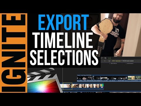 Export A Section Of Your Timeline In Final Cut Pro X (FAST & EASY Tutorial)