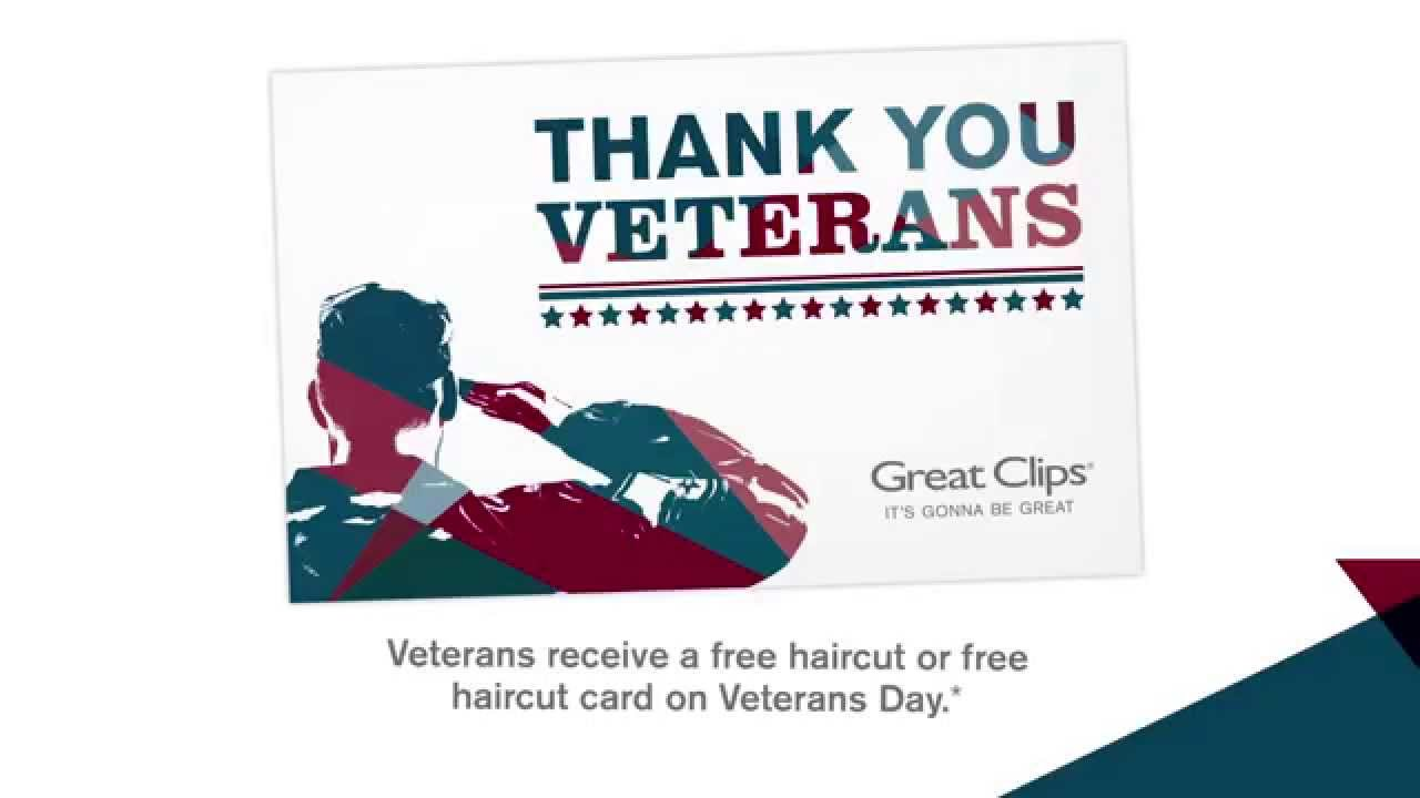 Veterans Day At Great Clips Youtube