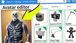 ROBLOX MAKING FORTNITE SKULL TROOPER AN ACCOUNT!