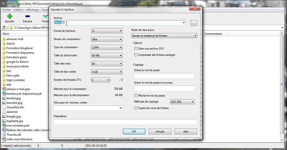 Comment Compresser Et Decompresser Un Fichier Avec 7 Zip Youtube