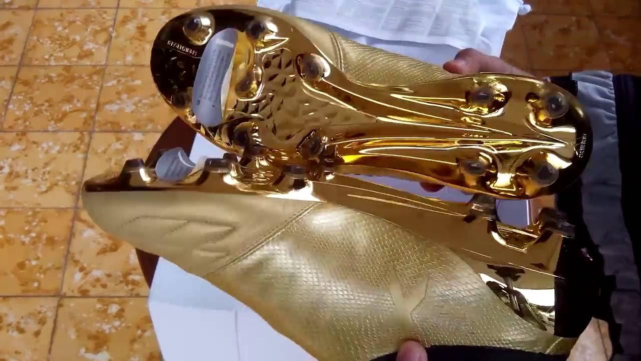 Sepatu Bola Adidas X 16 Purechaos Gold Black Space Craft Limited