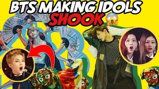 BTS MAKING IDOLS SHOOK (IDOLS REACTION TO BTS)