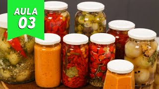 Aprenda a Fazer Conservas de Legumes e Molho de Pimenta
