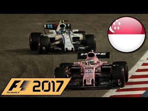 F1 2017 Career Mode Part 14 - SINGAPORE GRAND PRIX!