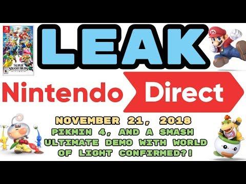 LEAKED Nintendo Direct | November 21, 2018 | SMASH ULTIMATE DEMO W/ WORLD OF LIGHT AND MORE!