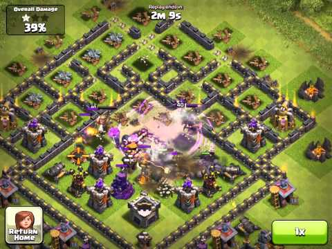 Clash of Clans New my attack video (i use Freeze Spell)