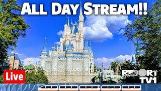 🔴Live: Disney's Magic Kingdom ALL DAY Live Stream 1080p  - Walt Disney World - 3-16-19