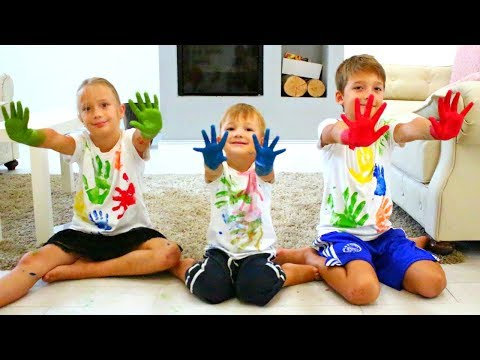 Jason & Brothers Learn Colors for Kids with Mommy   Rhymes Songs