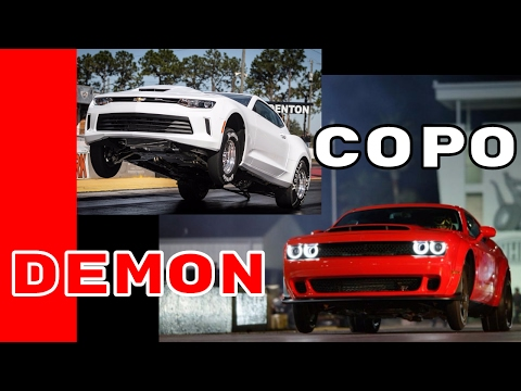 COPO Camaro vs Dodge Demon Exhaust Sound, Launch, & Acceleration