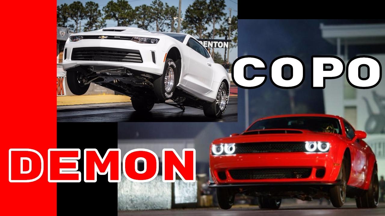 copo camaro vs dodge demon exhaust sound launch